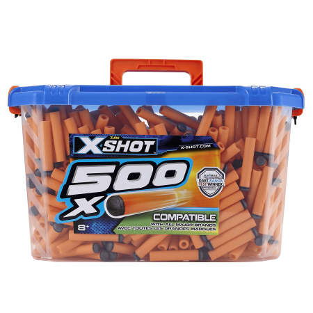 X-Shot Excel Universally Compatible Foam Darts Refill Box (500 Darts) by ZURU