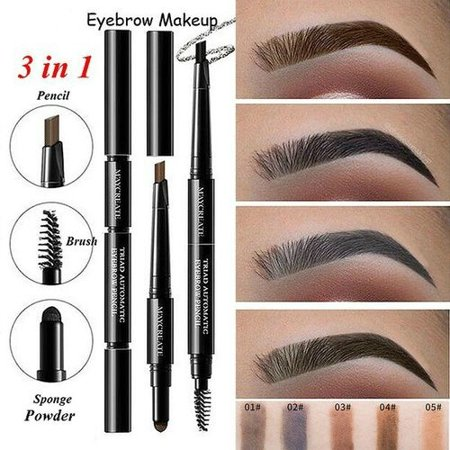 Waterproof Lasting Eyebrow Pencil 3D Pen Enhancer Brush with Eyebrow Shaper