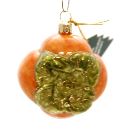 Holiday Williamsburg Fruit - Holiday Ornaments PERSIMMON FRUIT Glass Poland Hand Painted 085R