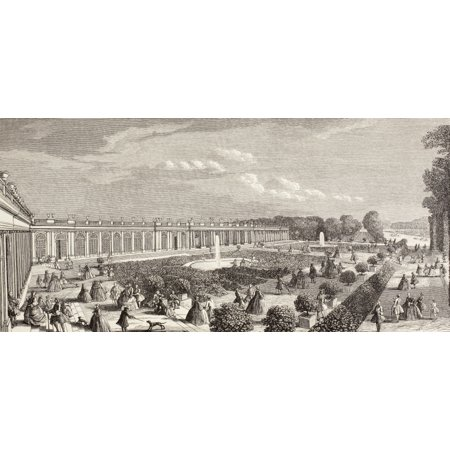 Le Grand Trianon Versailles France In The 18Th Century From Xviii Siecle Institutions Usages Et Costumes Published Paris 1875 Canvas Art   Ken Welsh  Design Pics  42 X 20