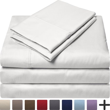 Egyptian Cotton 300 Thread Count Sateen Split King Sheet Set Split