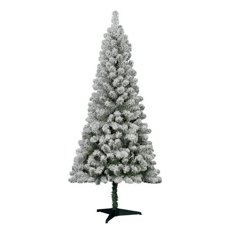 Holiday Time - Holiday Time 6' Flocked Greenwood Pine Artificial Christmas  Tree - Green - Walmart.com - Holiday Time - Holiday Time 6' Flocked Greenwood Pine Artificial