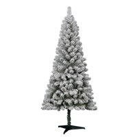 product image holiday time 6 flocked greenwood pine artificial christmas tree green