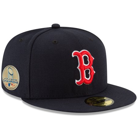 Boston Red Sox New Era 2018 World Series Champions Sidepatch 59FIFTY Fitted Hat - Navy ()