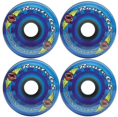KRYPTONICS ROUTE 65MM 78A BLUE Longboard Cruiser Skateboard Wheels