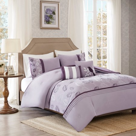 Better Homes And Gardens Lilac Leaves And Pleats Comforter
