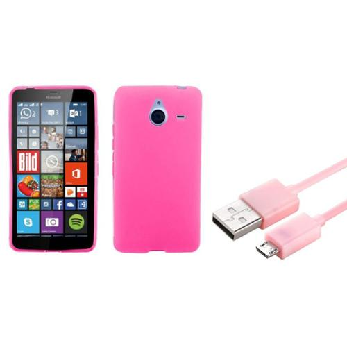 Insten Rubber Case For Microsoft Lumia 640 Xl Pink