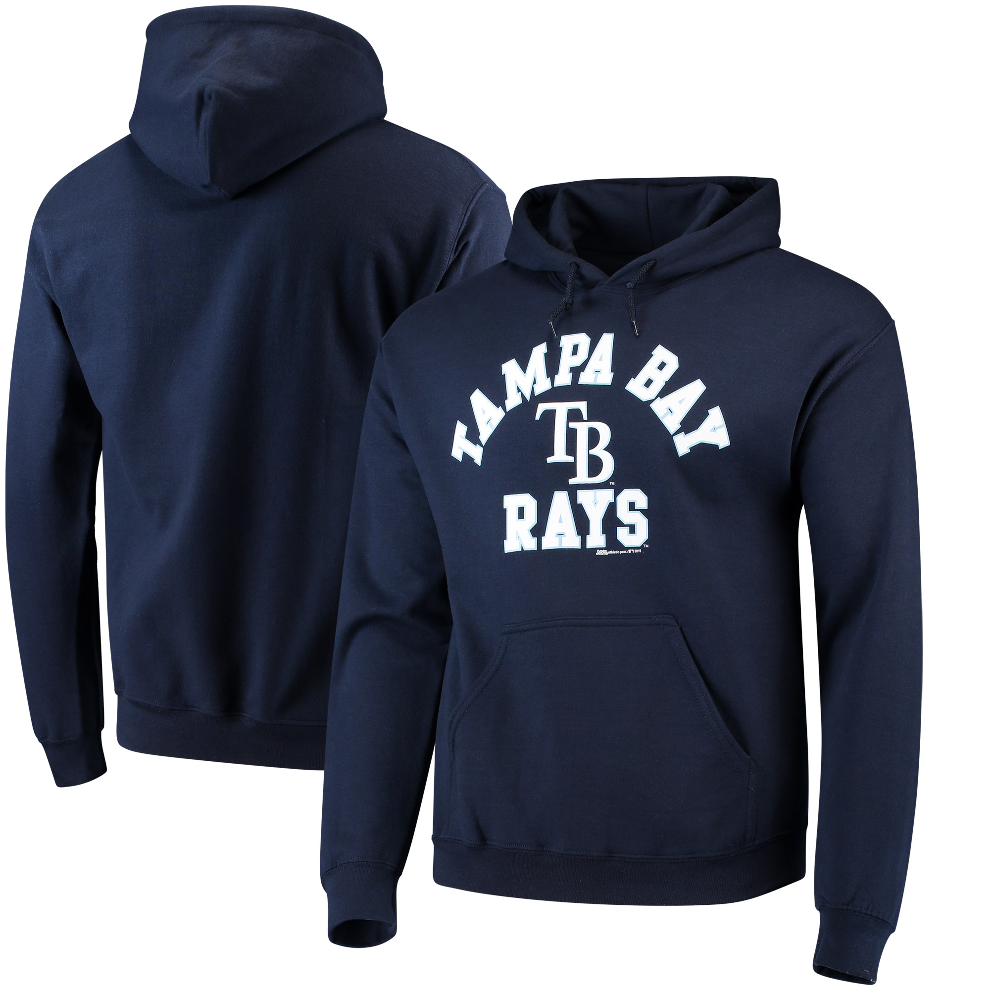 Tampa Bay Rays Stitches Fastball Fleece Pullover Hoodie - Navy Blue