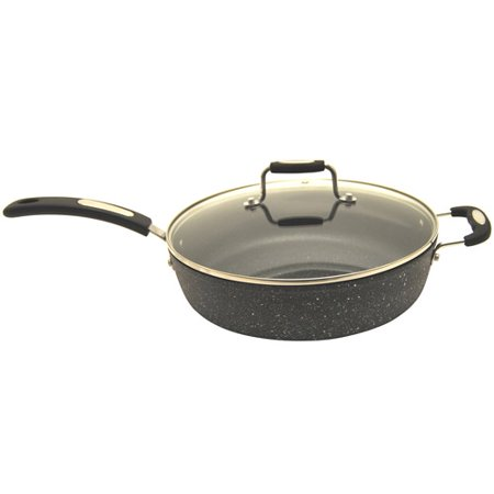 The Rock By Starfrit 11  Deep Fry Pan With Lid  Grey