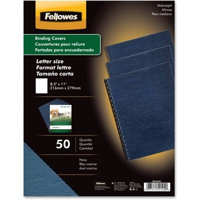 FEL52124 Classic Grain Texture Binding System Covers, Back Cover Color(s) Navy By Fellowes by