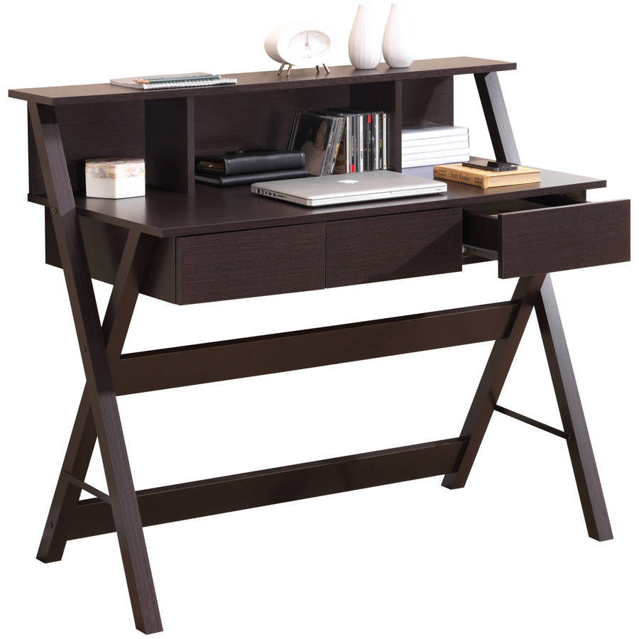 Techni Mobili Writing Table with Storage, Wenge