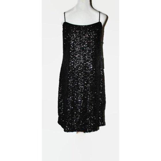 d8d1cde78146 Vera Wang - Vera Wang Sequin Slip Dress Women's 6 Black - Walmart.com