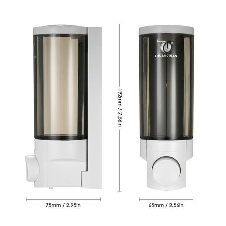 CHUANGDIAN 300ml Wall-mounted Single Bottle Manual Soap Dispenser Shampoo Box Soap Dispenser & Holder Toilet Hand Washing Liquid Shampoo Shower Gel Dispenser - image 3 of 7