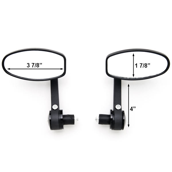 "Black Bar End Rear View Mirrors Handlebars 7/8"" For Yamaha XT 125 200 225 250 350 500 600 750 - image 2 de 3"