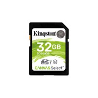 32GB SDHC Canvas Select 80R CL10 UHS-I