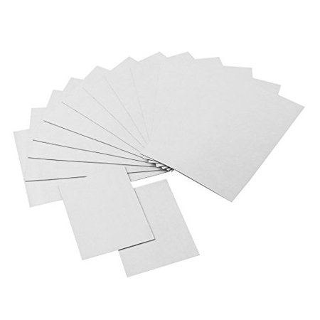 Strong Flexible Self-Adhesive Magnetic Sheets, 4 x 6 and 2 x 3 Peel & Stick Refrigerator Magnet Sheets for Photos and Art (14 Pieces) ()