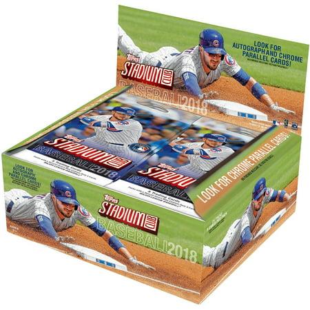 2018 Topps Stadium Club Baseball Retail Display Box