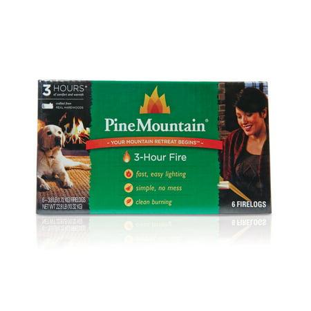 Pine Mountain 3-Hour Fire Log, Easy Starter Logs, 10.5