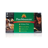 "Pine Mountain 3-Hour Fire Log, Easy Starter Logs, 10.5"" x 3"", 6 Pack"