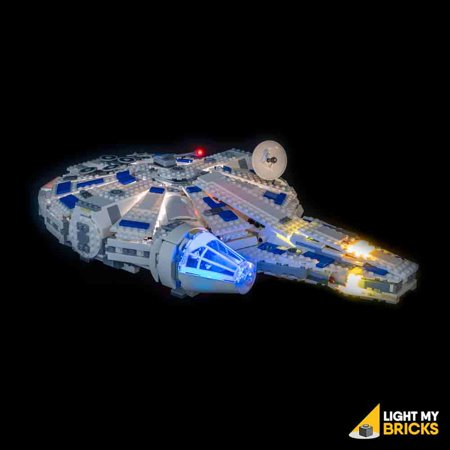 LIGHTING KIT FOR Kessel Run Millennium Falcon 75212 (BUILDING SET NOT INCLUDED) BY LIGHT MY (Falcon Sets)