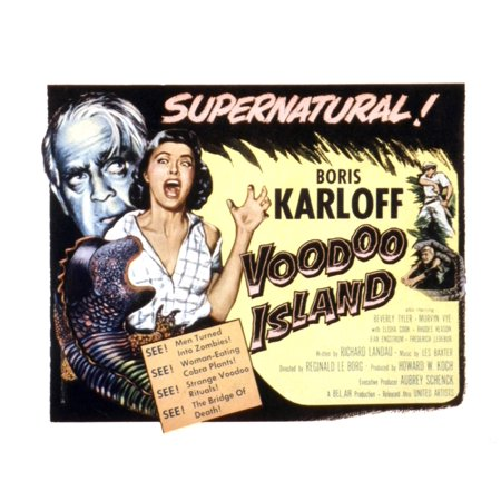 Voodoo Island Beverly Tyler Boris Karloff 1957 Movie Poster Masterprint](Boris Karloff Halloween)