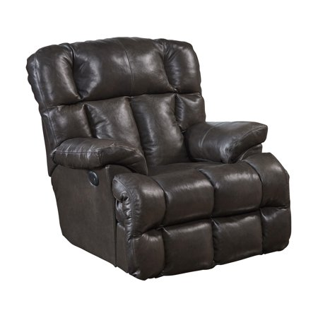 Catnapper Victor Top Grain Leather Power Lay Flat Chaise Recliner in Chocolate
