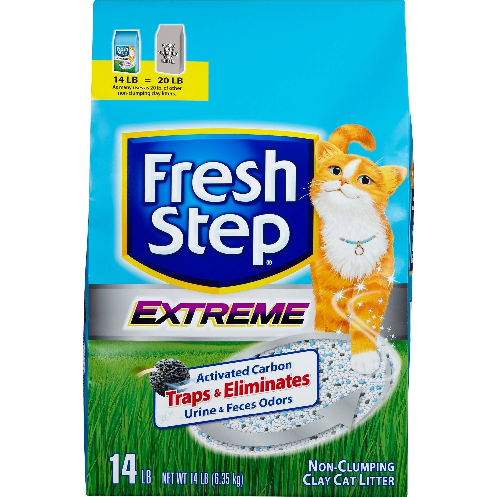 Fresh Step Extreme, Clay Cat Litter, 14 lb Bag