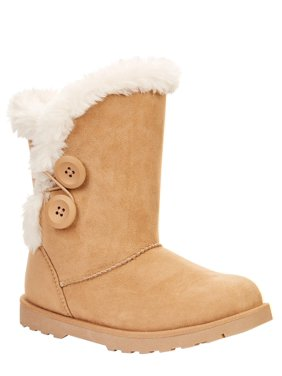 Calistoga Vegan Suede Faux Fur Mid Calf Boots (Little Girls & Big Girls)