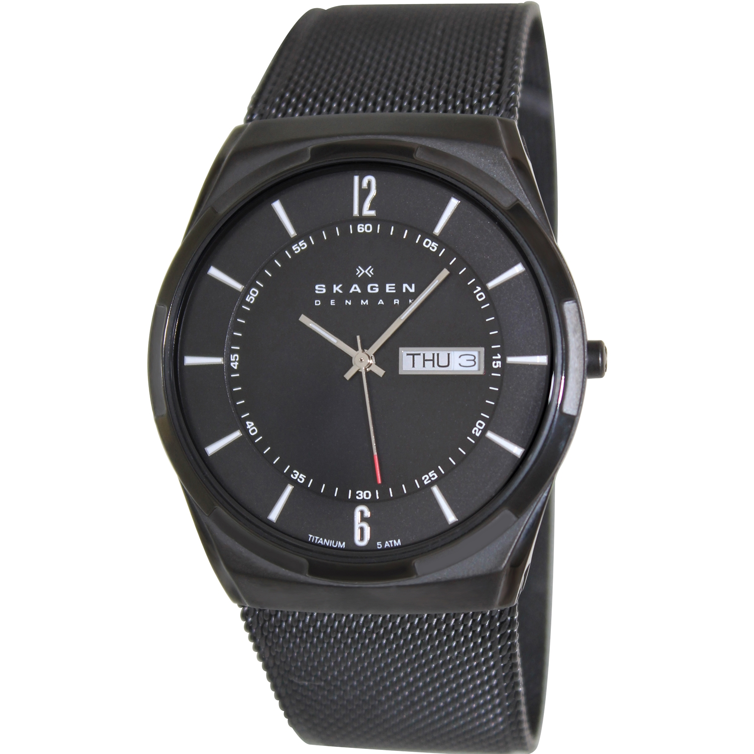 Skagen Men's Aktiv SKW6006 Black Stainless-Steel Quartz Watch