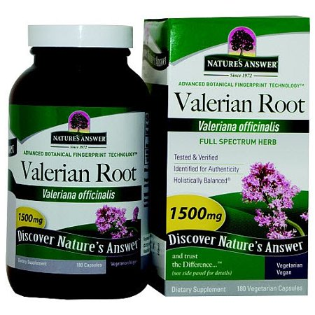 Nature's Answer Valerian Root 1500 mg - 180 Vegetarian/Vegan Capsules