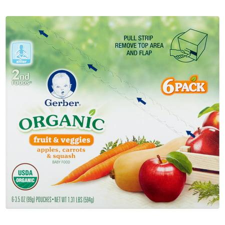 Gerber Organic 2nd Foods Sitter Fruit Amp Veggies Baby Food