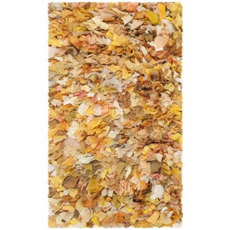 - Bungalow Rose Messiah Hand-Tufted Gold/Yellow Shag Area Rug