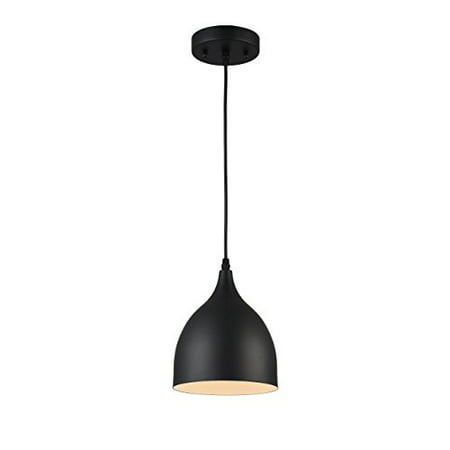 - CHLOE Lighting WALTER Industrial-style 1 Light Matt Black Ceiling Pendant 7