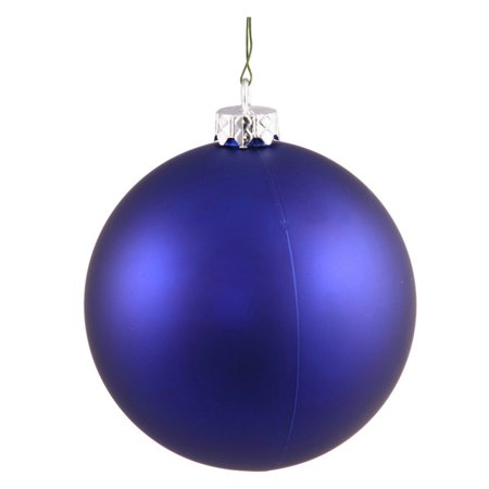 """Vickerman 3"""" Cobalt Matte Ball Ornaments with UV-Resistant Finish and Pre-Drilled Cap, Set of 12"""