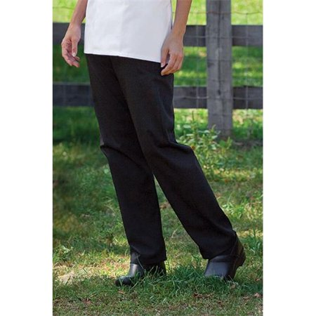 Uncommon Threads 4101-0110 Womens Chef Pant in Black - 6XLarge