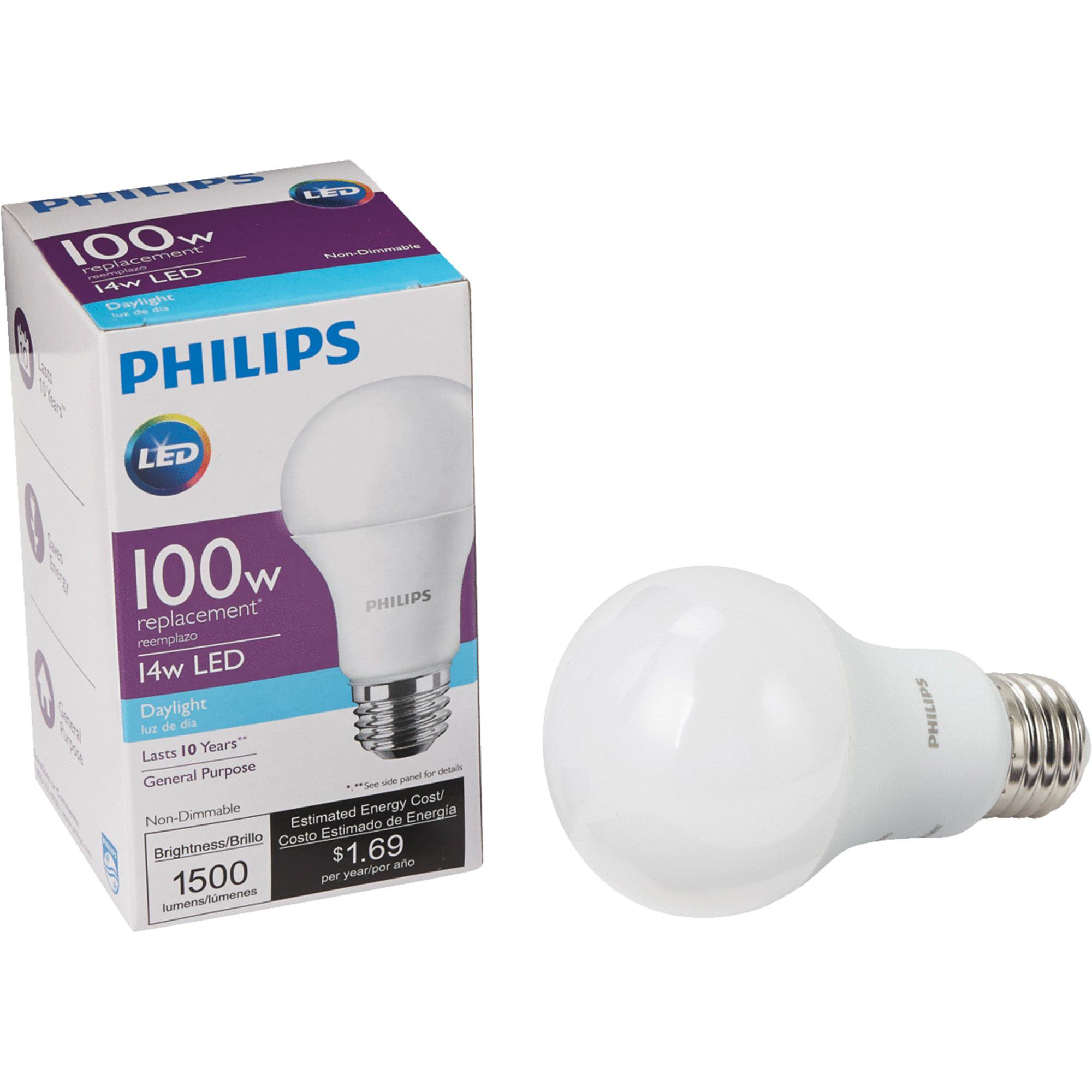 Philips A19 Medium LED Light Bulb