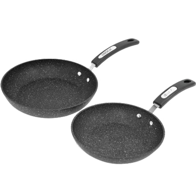The Rock By Starfrit 060740-002-0000 The Rock By Starfrit Set Of 2 Fry Pans with Bakelite Handles