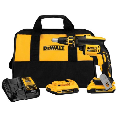 Dewalt 20-Volt MAX XR Lithium-Ion Cordless Brushless Drywall Screw Gun Kit with (2) Batteries 2Ah, Charger and Contractor Bag (New Open (Best Auto Feed Drywall Screw Gun)