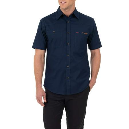 Men's Short Sleeve Button-Down Work Inspired Shirt (Duckie Tee)