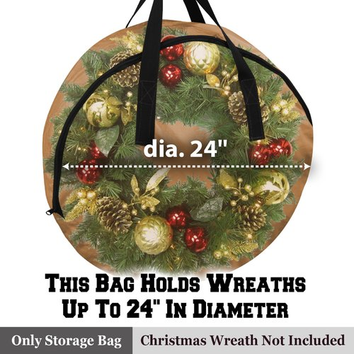 The Holiday Aisle Heavy Duty Christmas Wreath Storage Bag