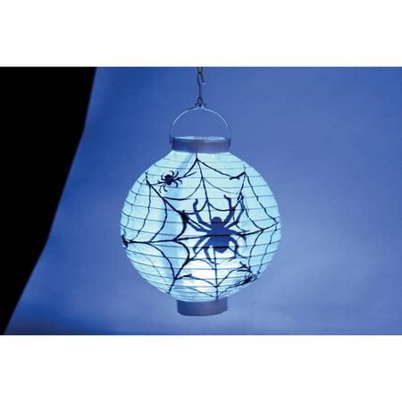 Light Up Spider Web Lantern - Halloween Paper Lanterns