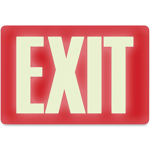 U.S. Stamp and Sign Glow-in-the-Dark EXIT Sign