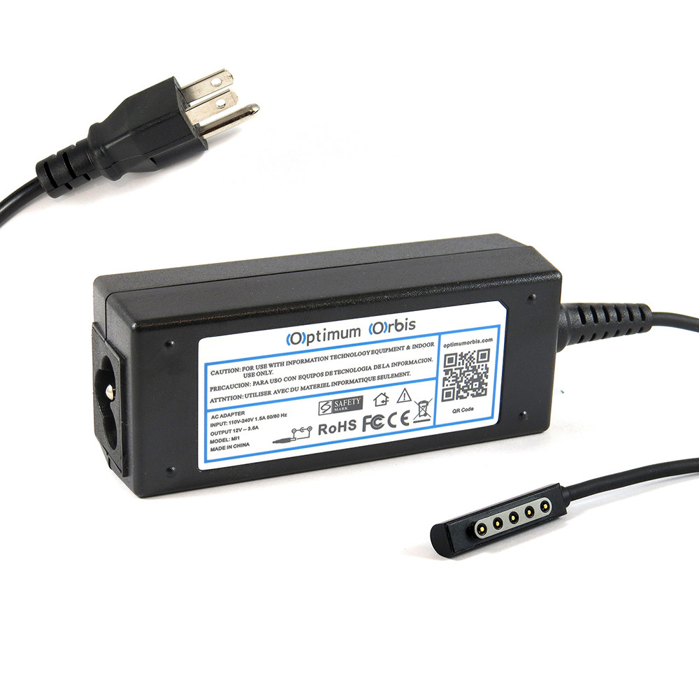 Power Supply for Microsoft Surface PRO 2 12v 3.6a 100-240v
