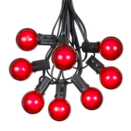 G40 Patio String Lights With 25 Clear Globe Bulbs - Hanging Garden String Lights - Vintage ...