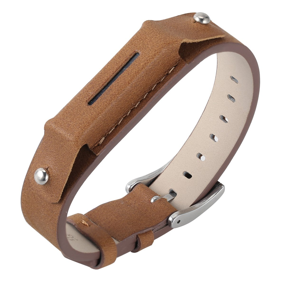 Fitbit Flex 2 Bands Genuine Leather Replacement Bands Classic Sport Strap Accessories for 2016 Fitbit Flex 2 Fitness tracker Coffee