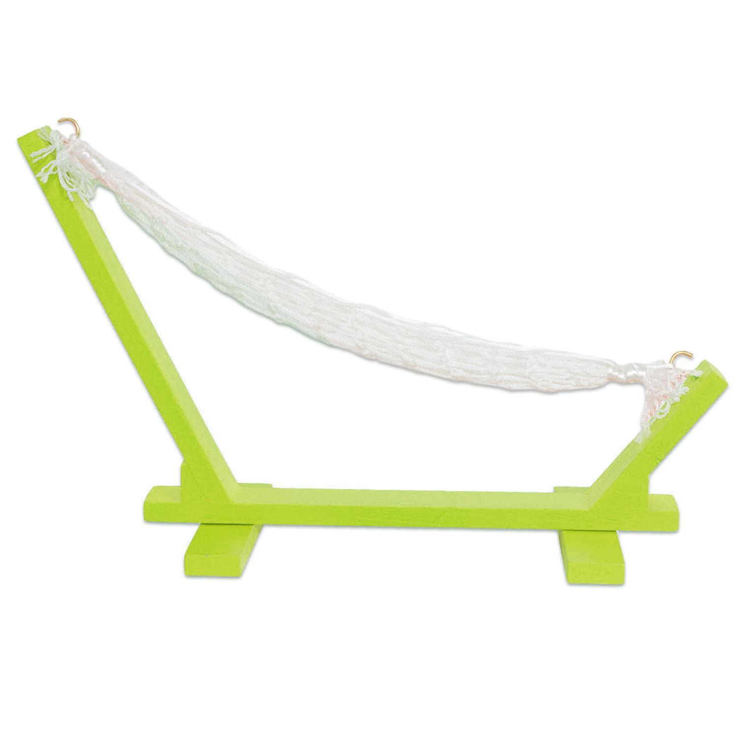 "10"" Tropical Fantasy Chartreuse Green Mini Hammock Wine Bottle Holder by Dennis East"