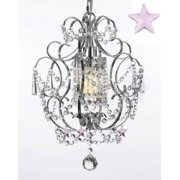 "Gallery T40-615 Versailles 15"" Tall 1-Light Pendant with Crystal Accents"