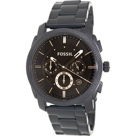 Fossil Men's Machine FS4682 Black Stainless-Steel Quartz Fashion Watch