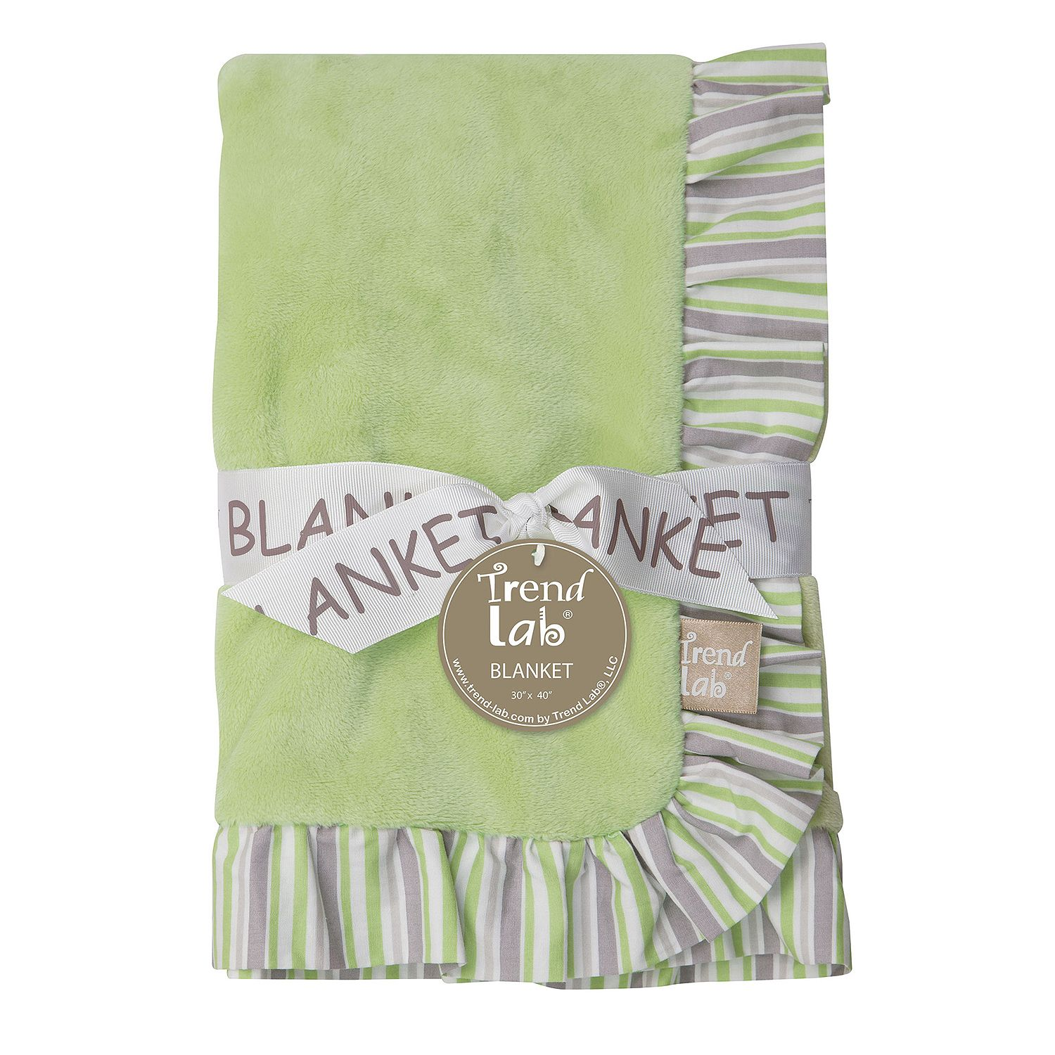 Product of Trend Lab Ruffle-Trimmed Receiving Blanket, Lauren Blankets & Throws [Bulk Savings] by Product of Trend Lab