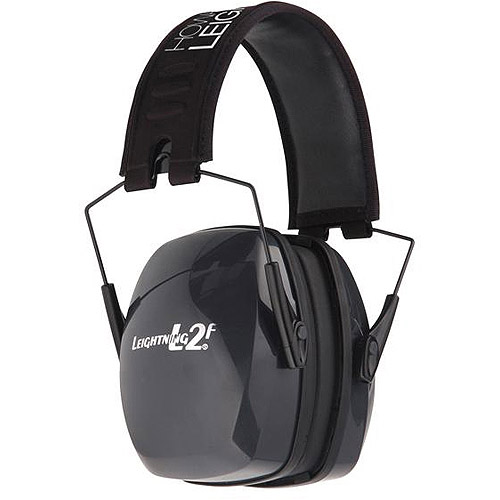 Howard Leight by Honeywell R-01525 Leightning L2F Folding Earmuffs, Black and Gray